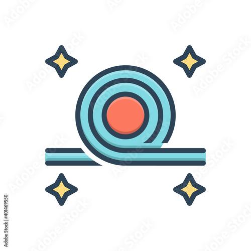 Color illustration icon for bend Fotobehang