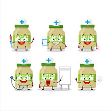 Doctor Profession Emoticon With Tartar Sauce Cartoon Character