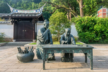 Chinese Traditional Confucian Culture, Bronze Statue Of Confucius And His Student