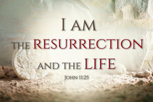 Jesus Christ Resurrection. Christian Easter Concept. Empty Tomb Of Jesus With Light. Born To Die, Born To Rise. He Is Not Here He Is Risen . Savior, Messiah, Redeemer, Gospel. Alive. Miracle.