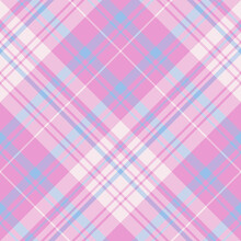 Seamless Pattern In Light Pink And Blue Colors For Plaid, Fabric, Textile, Clothes, Tablecloth And Other Things. Vector Image. 2