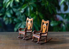 Miniature Rocking Chairs - Vintage Doll House Furnitures