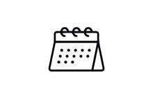 Calendar Line Icon Vector Design