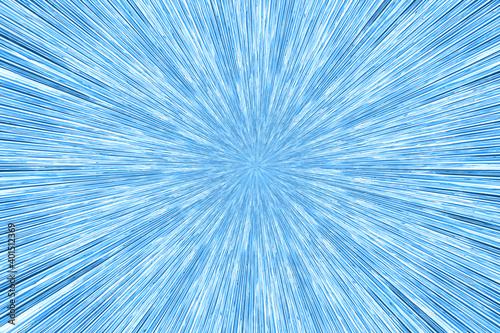 Fototapety, obrazy: Star burst radial pattern in blue glass texture