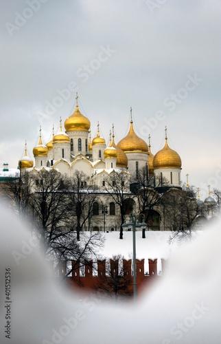 Fotografie, Obraz Architecture of Moscow Kremlin in winter. Popular landmark.