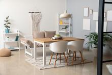 Stylish Interior Of Modern Dining Room