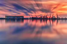 Sunset Over The Harbor, Long Exposure