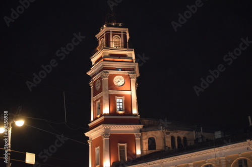 Canvas Print Saint Petersburg is a huge churches, interesting architecture and small courtyar