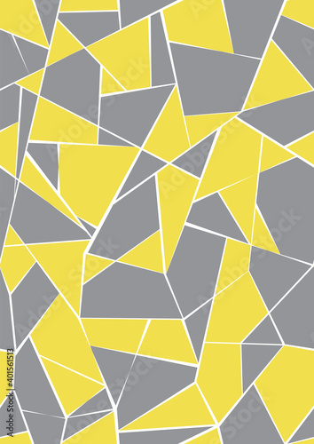 abstract-shapes-seamless-vector-background-of-ultimate-gray-and-illuminating-colors-mid-century-style-design-pantone-colors-of-the-year-2021-retro-poster