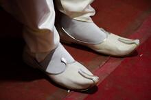 Wearing Indian Wedding Shoes