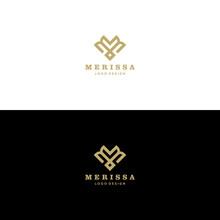 Abstract Monogram Elegant Flower Logo Icon Vector Design. Universal Creative Premium Letter M Initials Ornate Signature Symbol. Graceful Vector Sign. Art