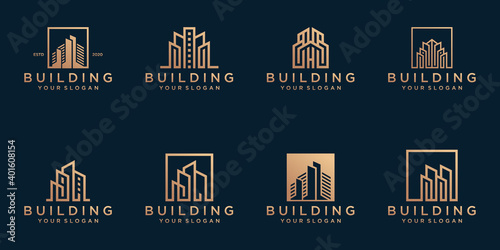 Set of abstract building logo template Fototapet