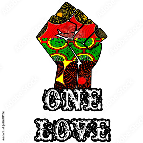 Fotomural One Love Unity Fist