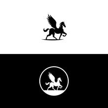 Pegasus Logo Template Vector Illustrations