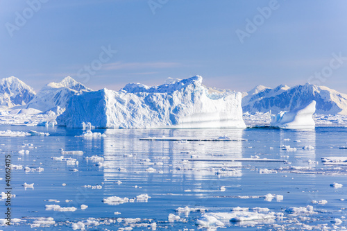 Canvas Images of ice bergs in Antartica