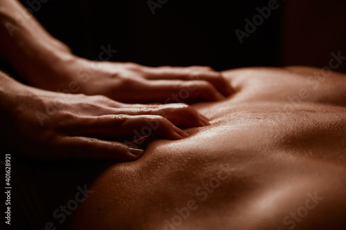 Obraz close up of a person receiving a massage - fototapety do salonu