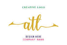 Atl Lettering Logo Is Simple, Easy To Understand And Authoritative