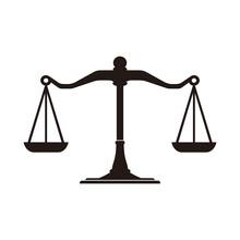 Justice Scale Logo Design Template Vector Illustration