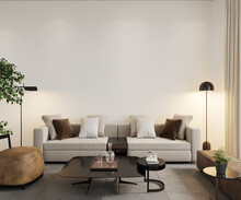 3d Render, Living Room Interior