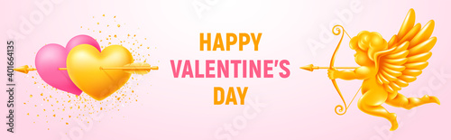 Canvas Valentines Day festive banner
