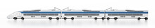 Electric Train Isolated On White Background. 3D Illustration