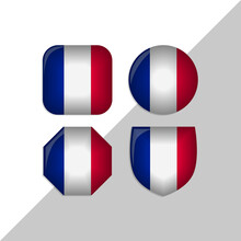 France Flag Icons Theme. Isolated On A White Background. Can Be Used For Websites And Additional Designs. Vector