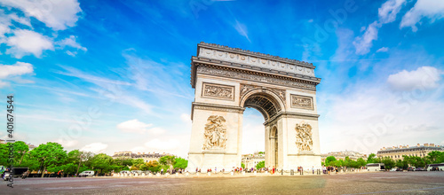 Fotografía Arc de triomphe, Paris, France