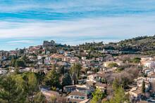Panorama Of Gréoux-les-Bains, Alpes De Haute Provence, France