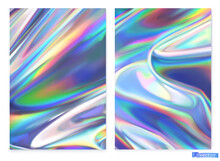 Holographic Film. Abstract Vector Background