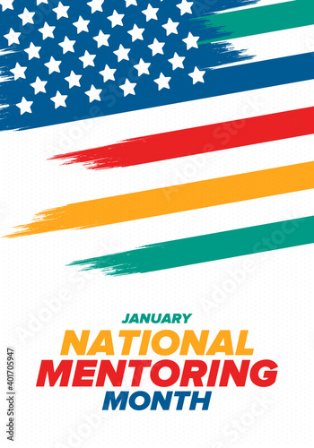 Tablou Canvas National Mentoring Month in January