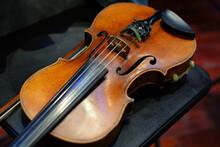 Violin. Musical String Instrument Close-up.
