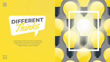Different Thinks Yellow Light Bulb