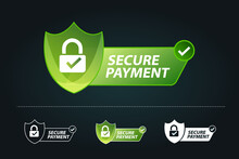 Secure Payment Vector Illustration, Secure Payment Test With Padlock And Tick, Security Concept