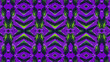 canvas print picture - African fabric, cotton – Textured and seamless pattern – Violet and green colors, photo