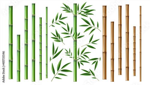 Valokuva Realistic bamboo stick