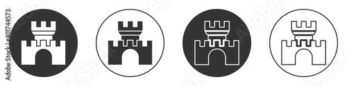 Fotografie, Obraz Black Castle icon isolated on white background