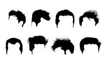 Man-Hair-Style-Boy-Silhouette-vector-Art
