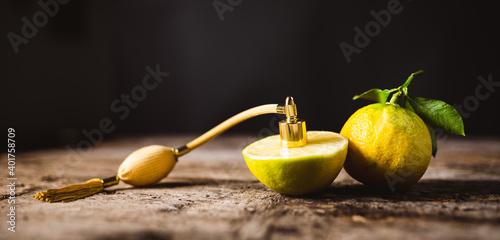 Profumo al bergamotto, essenza Fototapete