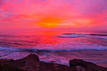 Sunset, Pacific Ocean, La Jolla, USA, América