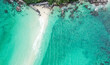 Aerial view of Koh Nang Yuan, in Koh Tao, Samui province, Thailand, south east Asia