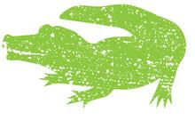 Distressed Alligator Silhouette