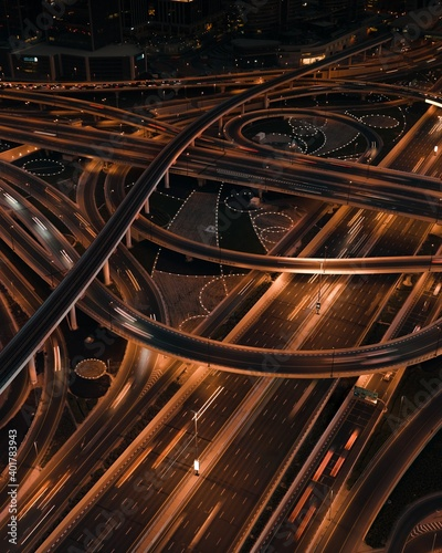 Canvas road freeway intersection highway staircase