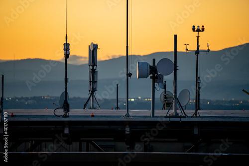 antenas de televisión Fotobehang
