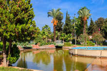 Beautiful Artificial Pond In Kugulu Park In Kemer Town, Turkey