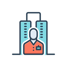 Color Illustration Icon For Permanent