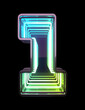 canvas print picture - Infinity Neon font. Minth light. Number 1.
