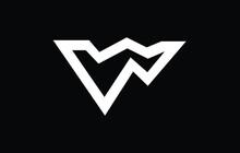 Initial Based WV, VW,  Logo Template. Unique Monogram Alphabet Letters Design And Vector.