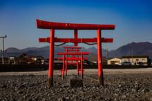 Floating Torii Gate Of Oouo Shrine