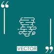 tornado vector icon Linear icon. Editable stroke line