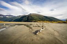 Glacial Outwash Plain In Alaska